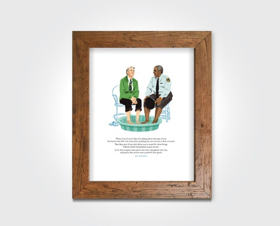 Mr Fred Rogers Illustration Art Print Etsy