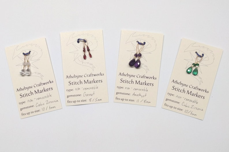 Luxury Gemstone Stitch Markers for Knitting Snagless image 0