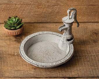 Cast Iron Antique Water Pump Soap Dish
