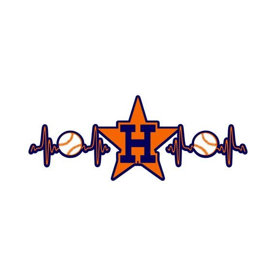 Astros Star >> Astros Star Heartbeat Svg Jpg Digital Download