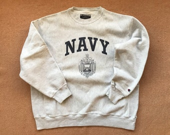 6eeeef5f1e3 United States Naval Academy (Navy) Sweatshirt – Reverse Weave by Champion –  Vintage 2010s (early) – Size X-Large