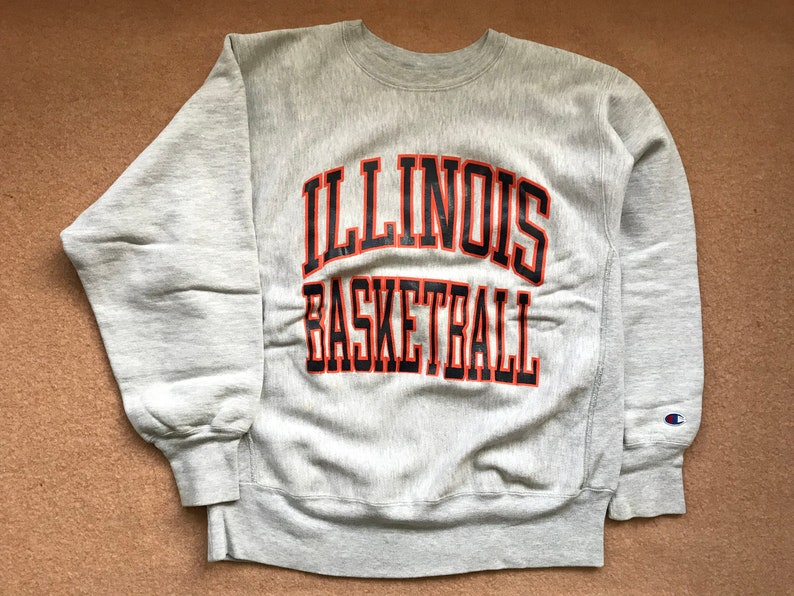 official photos 3526a 7bfc8 University of Illinois Basketball Sweatshirt Reverse Weave   Etsy