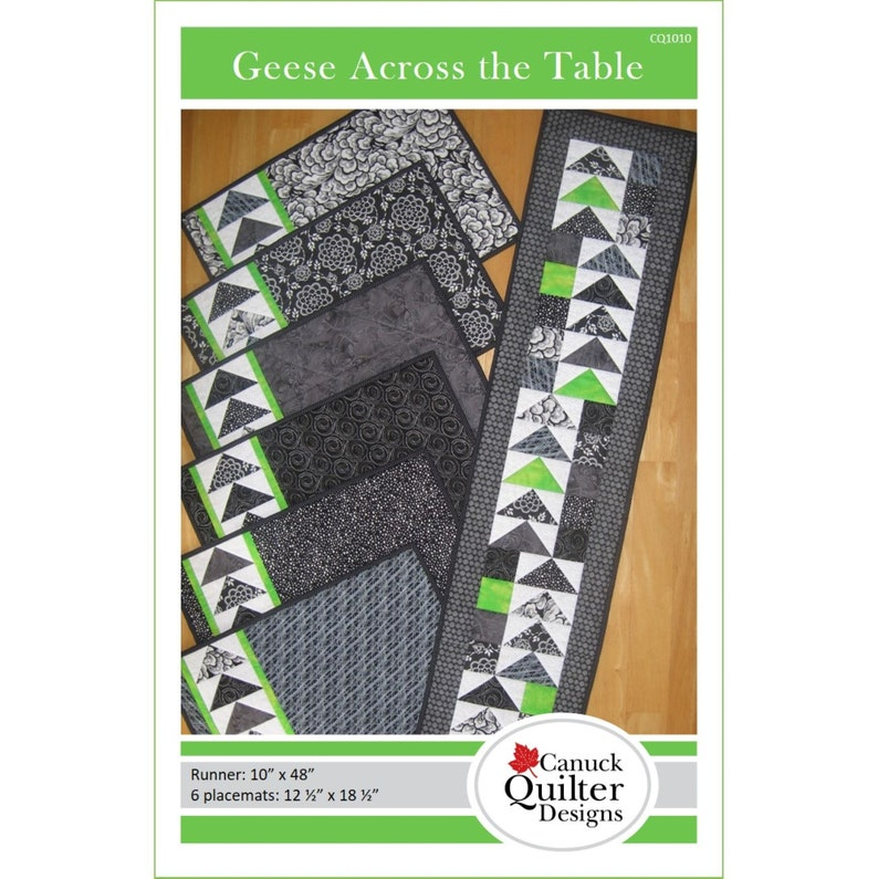 Geese Across the Table Placemat and Table Runner Pattern / PDF image 0