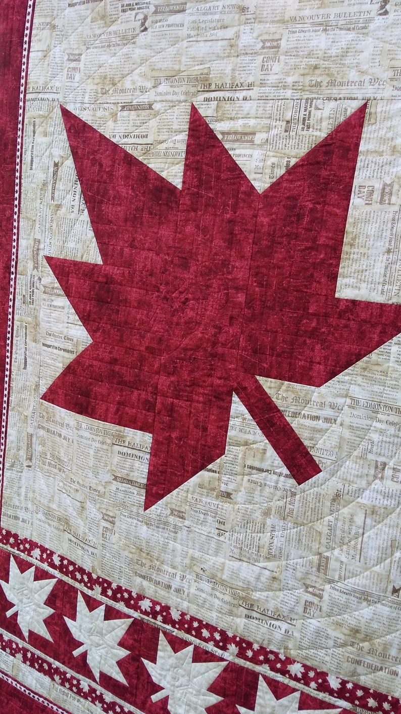 150 Quilt Pattern  Canada quilt  fall quilt  throw quilt PDF download  Canuck Quilter Designs