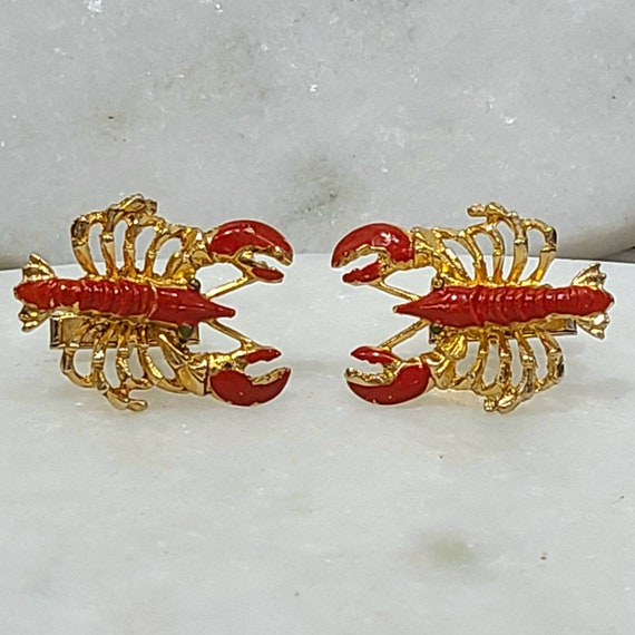 Fun Whimsical Vintage Lobster Cuff Links