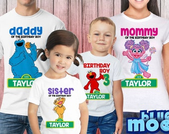 2daeab9d Personalized Sesame Street Themed Birthday t-shirt, Sesame Street Birthday  Shirt, Custom Sesame Street, Elmo Birthday t-shirt