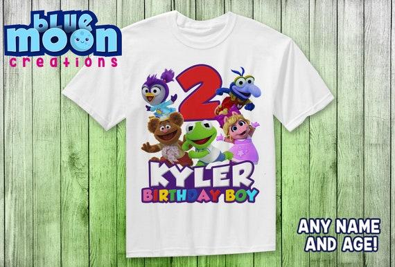 miss piggy /& kermit birthday outfit Muppet babies birthday shirt muppet babies invitation,muppet baby shirt Muppet Babies birthday outfit