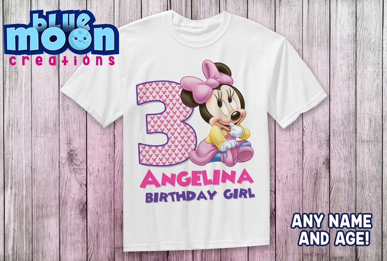Baby Minnie mouse boys set Baby Minnie mouse first birthday outfit Baby Minnie mouse birthday shirt