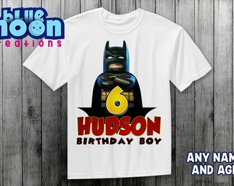 Batman birthday shirt, superhero birthday party, boy birthday shirt, birthday party.