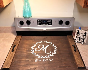 Noodle Board,wood Stove Topper,stove Top Cover Wood,stove Cover,custom  Wooden Stove Cover,wood Stove Tray,wedding Gift,Serving Tray
