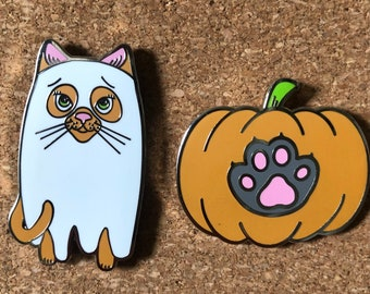 Spooky Cat Pin Collection! (2 Pins, 4 Dollars OFF)