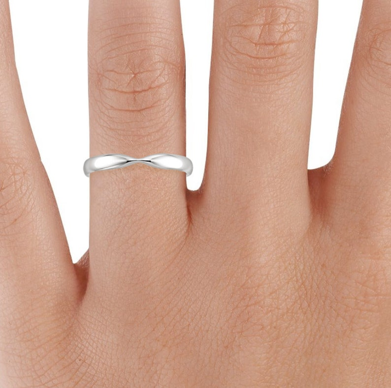 Gold Curved Wedding Band  Chevron Ring  V Rings For Women  Dainty Ring for Women  Skinny Band  Curved Matching Band  Matching Rings