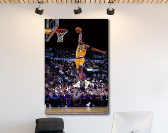 huge selection of 62fda 76976 Kobe Bryant Lakers Original Color Canvas Print Art Decor Wall High Quality