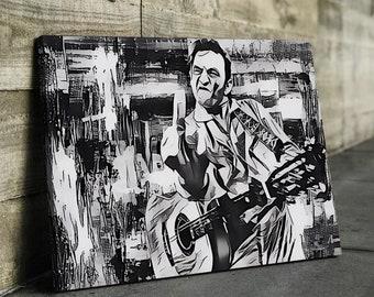 e46fcda42 Original Designed Johnny Cash Finger Music Famous #3 Poster Canvas Print  Art Decor Wall