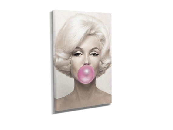 Marilyn Monroe Pink Bubble Gum Canvas ArtCanvas Print Wall Art