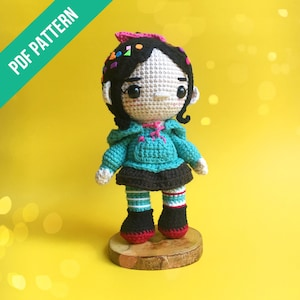 Wreck-It Ralph Vanellope ~ Lil/' Crochet Drawstring Candy Backpack