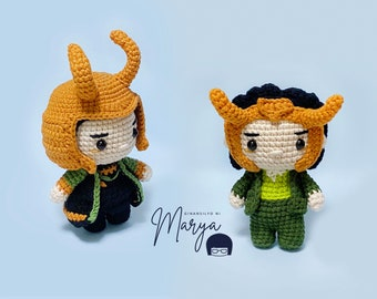 Crochet Doll Amigurumi Pattern Variant Hero / PDF Pattern