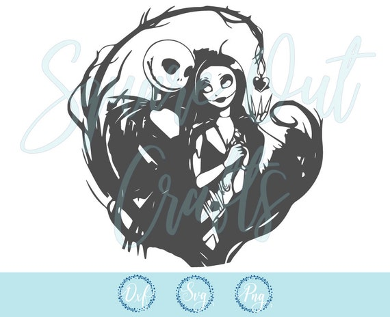 Nightmare Before Christmas Svg Files For Silhouette Cameo Or Etsy Nightmare before christmas jack skellington and sally meant to. nightmare before christmas svg files for silhouette cameo or cricut