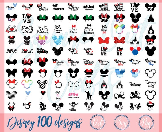 Sale Files for Silhouette Cameo or Cricut Mickey Mouse Monogram Frames DXF -Clipart Disney Castle Monogram Frames SVG Collection
