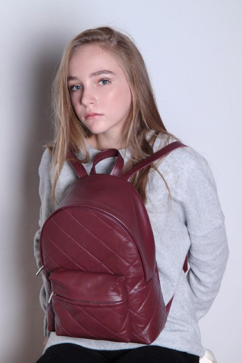 Backpack Purse Minimalist Backpack Leather Backpack Gift For Her Backpack Woman Leather Rucksack