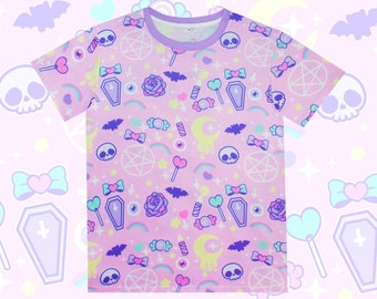 23fad35d CANDY SKULL - Unisex Tee, Kawaii, Pastel Goth, Fairy Kei, creepy cute,  fairy kei, Harajuku, Jfashion