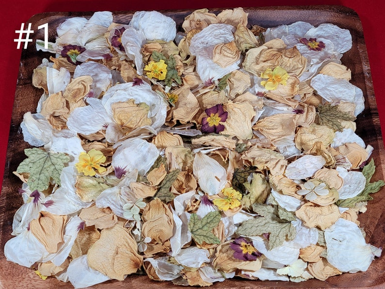 Flowers petals and leaves mix Organic Home grown Dried Flower girl basket flowers and petals Wedding Table centerpieces Cake table decor