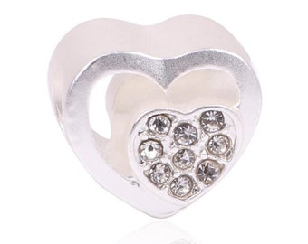 68ace20a3 2018 Fashion Perles Jewelry Cute Original Clear CZ Heart Charm Fit Pandora  Bracelet 925 Sterling Silver Beads Jewelry Making