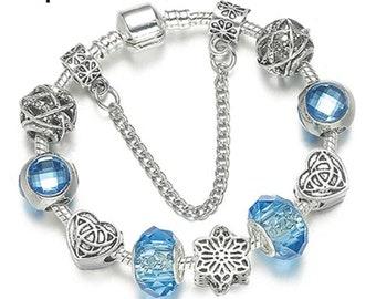 b959dd596 Luxury Charm Bracelet Unique Silver Plated Crystal Pandora Style Bracelet  for Women & Kids, DIY Charms Bracelet Jewelry