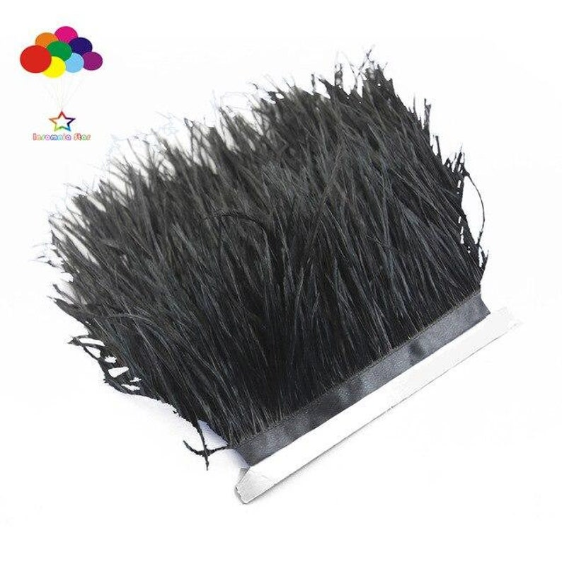 Beautiful Multicolor 1510 Meter Ostrich Feather Cloth Trims 4-6Inches10-15 Cm Ribbon for Carnival Party Diy Costume Headress