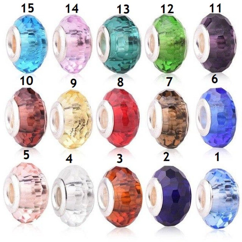 10pcs Assorted Shape Mixed Crystal Glass Loose Spacer Beads Lot Jewelry Making