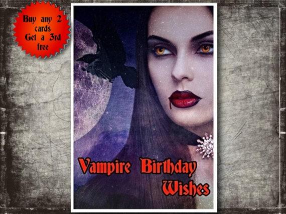 Horror themed Eye Card Film Poster Style Birthday Card. I Spy Birthday Card