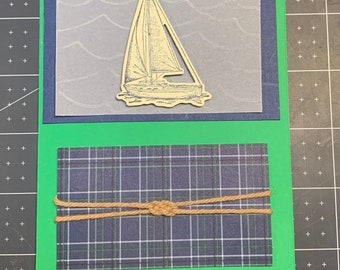Sailing Masculine Blank Card, Father's Day, Birthday Card