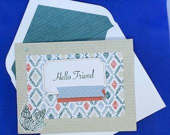 Teal Seashell Friendship Card | Any Occasion Card | Blank Card