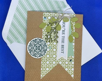 Green Vine You're the Best Card | Any Occasion Card | Blank Card