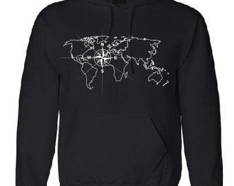 World Map Sweater.World Map Sweatshirt Etsy