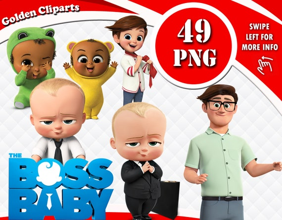 The Boss Baby Clipart Boss Baby Png Files Boss Baby Cartoon Character Images Baby Clipart Transparent Background Instant Download