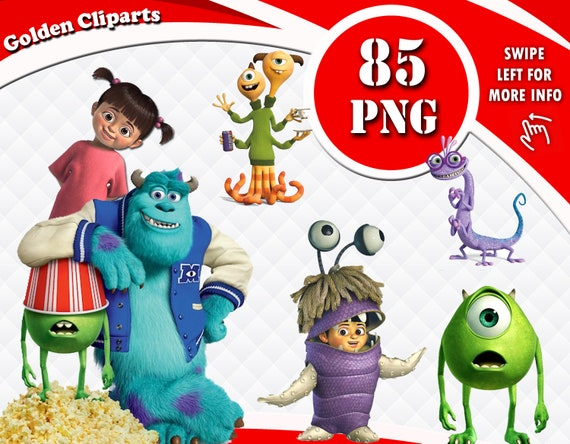 Monsters Univercity Clipart Monster Inc Characters Png Files Etsy