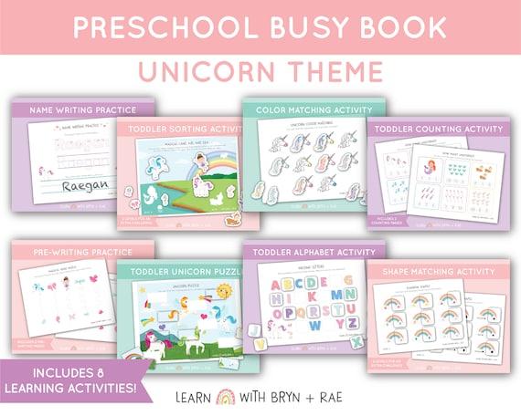 Unicorn Busy Book Bundle // Toddler Busy Binder // Preschool