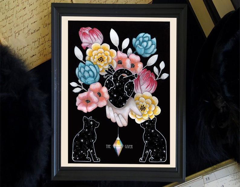 The Giver colorful witchy print witchy wall decor mystical image 0