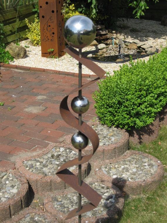 Gartenstecker Stecker ST300 Rost Skulptur Rostdeko Edelrost Steele Steelen