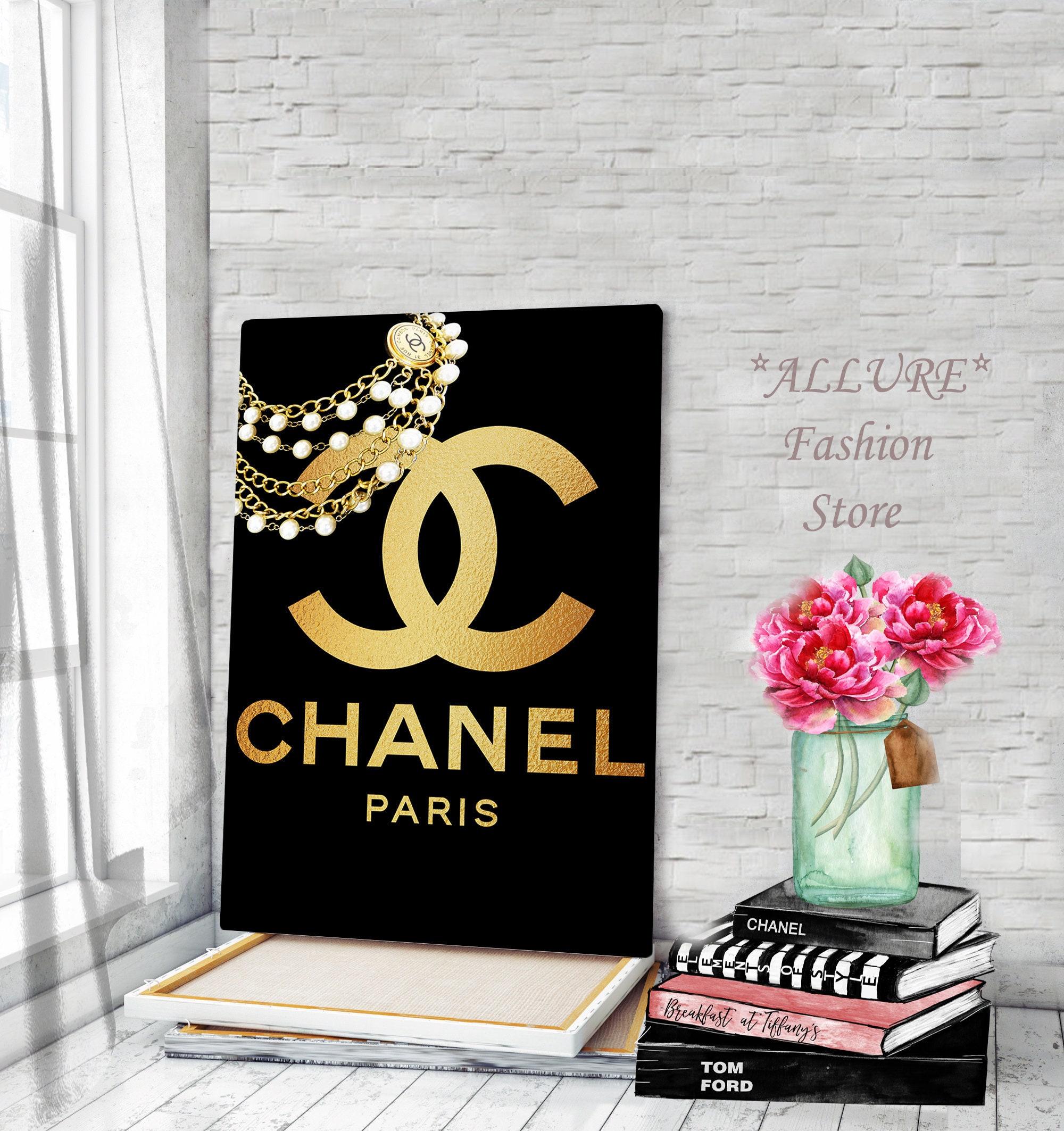 Canvas wall art chanel wall art chanel logo prints chanel canvas fashion wall art chanel logo art fashion illustration chanel poster prints