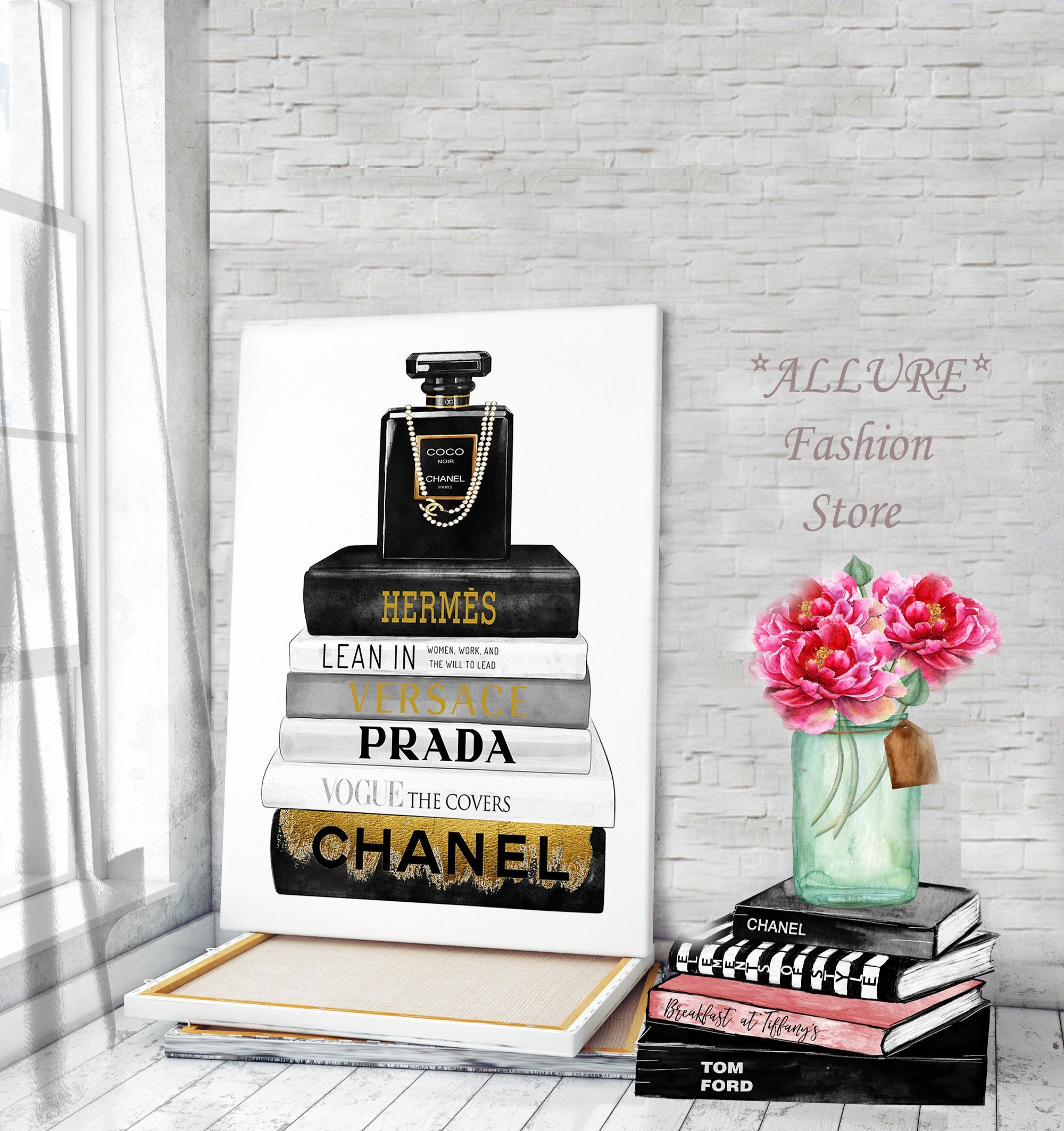 Canvas wall art fashion wall art chanel canvas chanel wall art chanel perfume prints chanel prints fashion illustration perfume canvas art