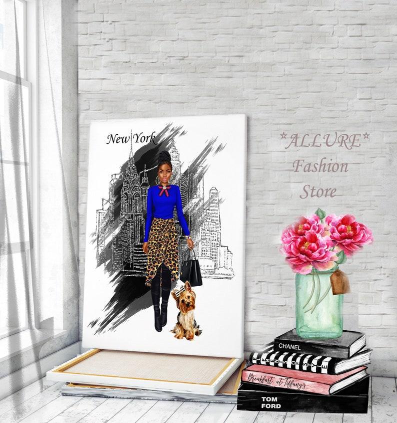 Fashion Wall Art Canvas Wall Art Fashion Girl Print Fashion Prints Fashion Girl Illustration Fashion Illustration Canvas Painting Canvas Art
