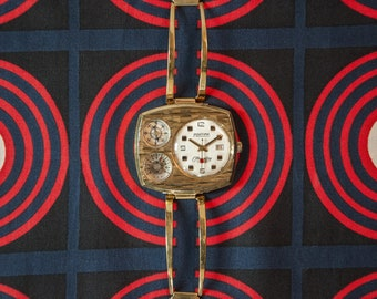 70b7ec964 Vintage french mechanical watch for men from the 60s controlled and  adjusted. Gift for him