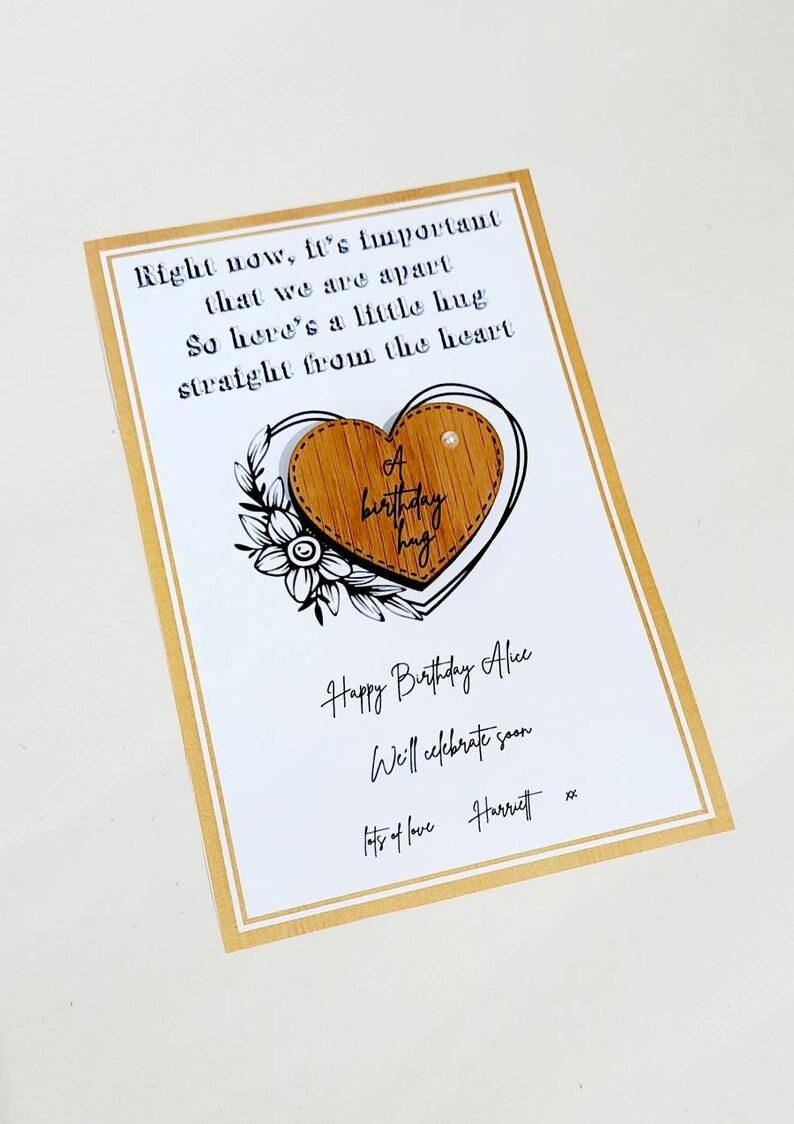 A little hug from Daisydoor Crafts pocket hug posted hug birthday hug