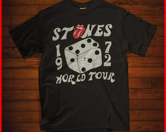 The Rolling Stones 1972 Tour Dice Tongue Music Band T-shirt Men Cotton e1147d3d01ea