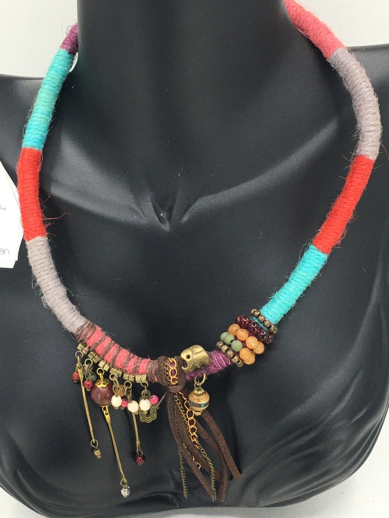 Bohemian Choker Necklace Gift for Women Collier femme Statement Necklace Multicolor Turquoise Choker Bridesmaid Gift for Her
