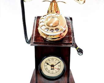 Vintage Phone Clock Etsy