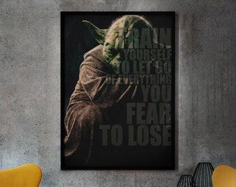 Meister Yoda Zitate Etsy