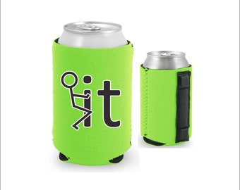 Hold My Beer Magnetic Neoprene Collapsible Can Coolie
